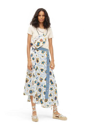 LOEWE Paula Print Skirt Denim Trim 白色/多色 front