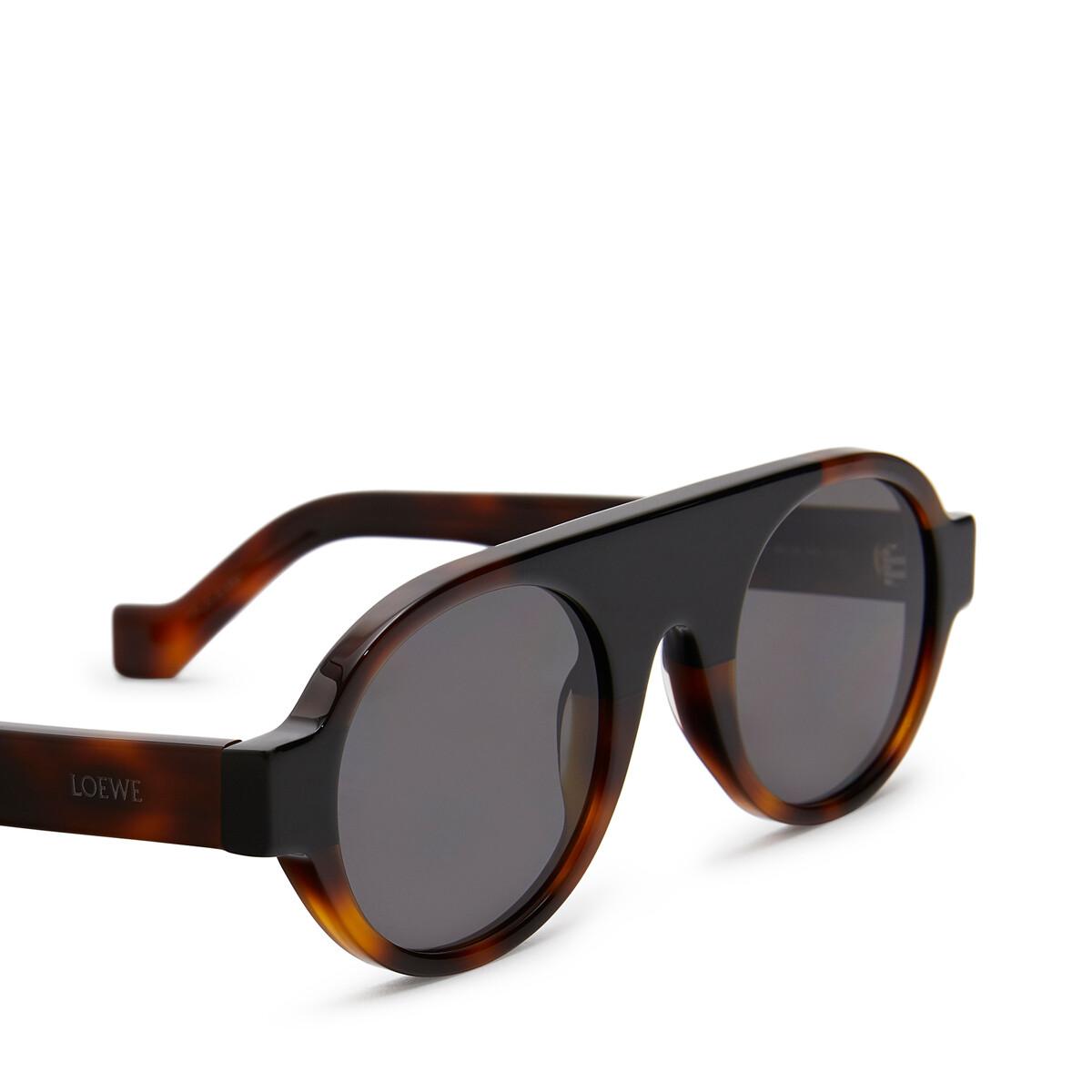 LOEWE Round Aviator Sunglasses Havana front