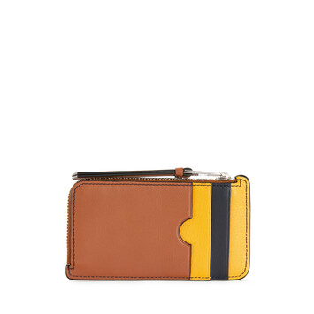 LOEWE Stripes C/C Holder Yellow Mango/Marine front