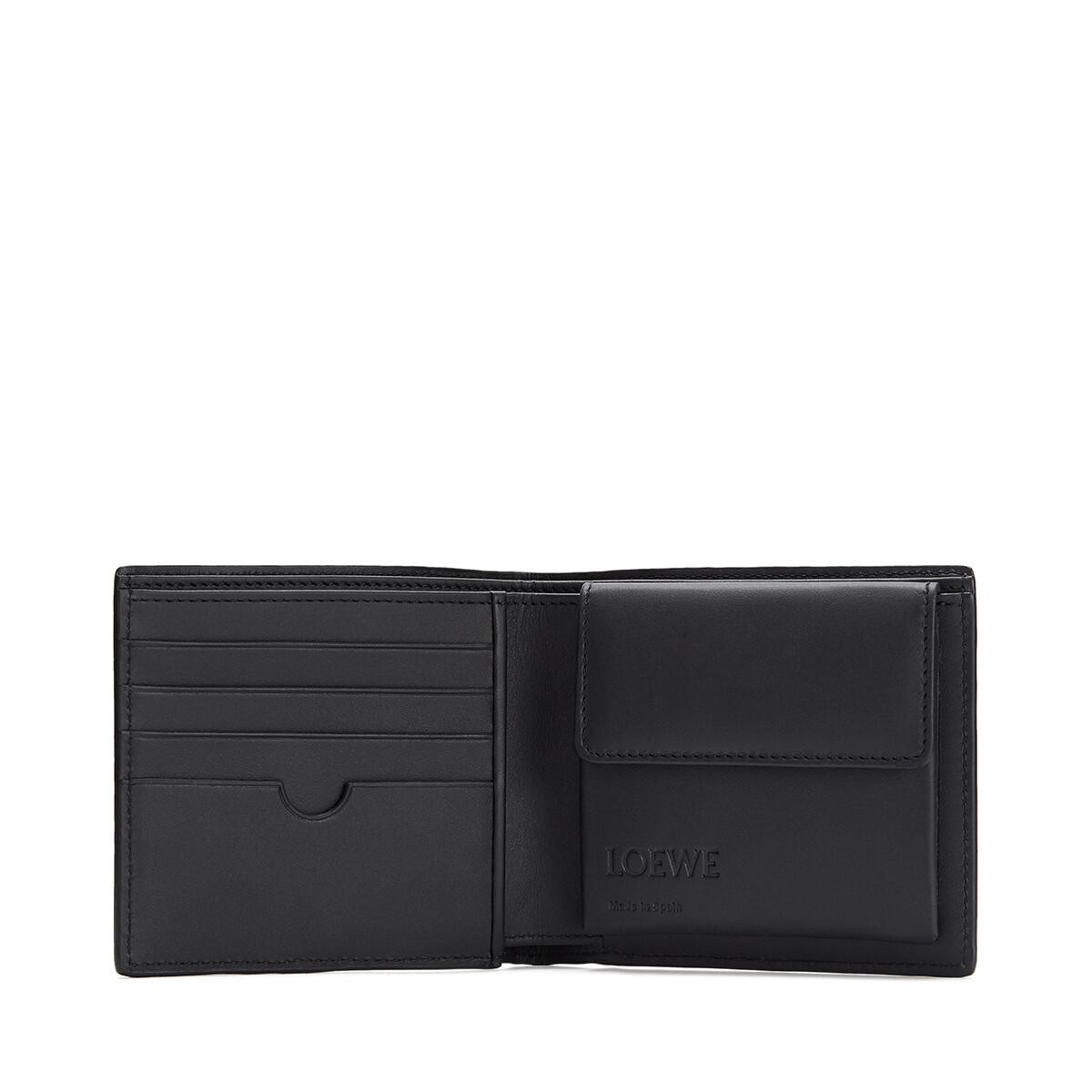 LOEWE Puzzle Bifold Coin Wallet Cognac front