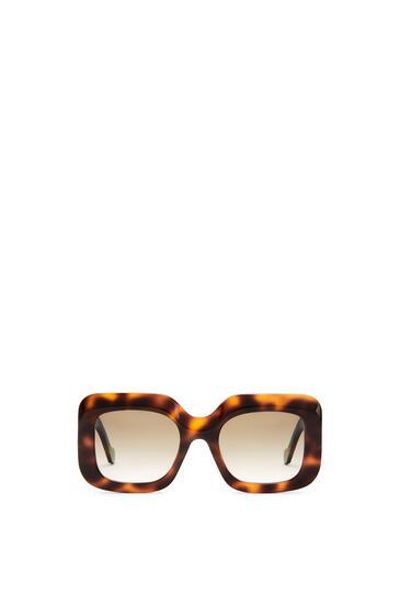 LOEWE Acetate Rectangular Sunglasses ハバナ pdp_rd