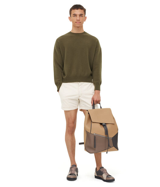 LOEWE Cropped Sweater Verde Kaki front