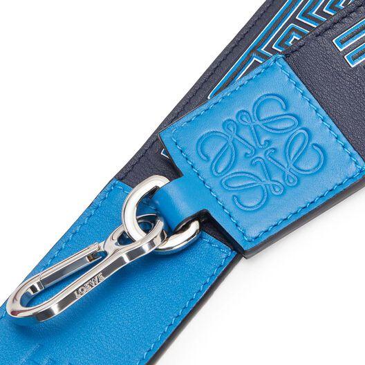 LOEWE Maze Strap Midnight Blue/Fluo Blue front