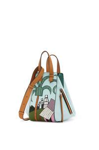 LOEWE Small Easter Island Hammock bag in classic calfskin Mint/Multicolor pdp_rd
