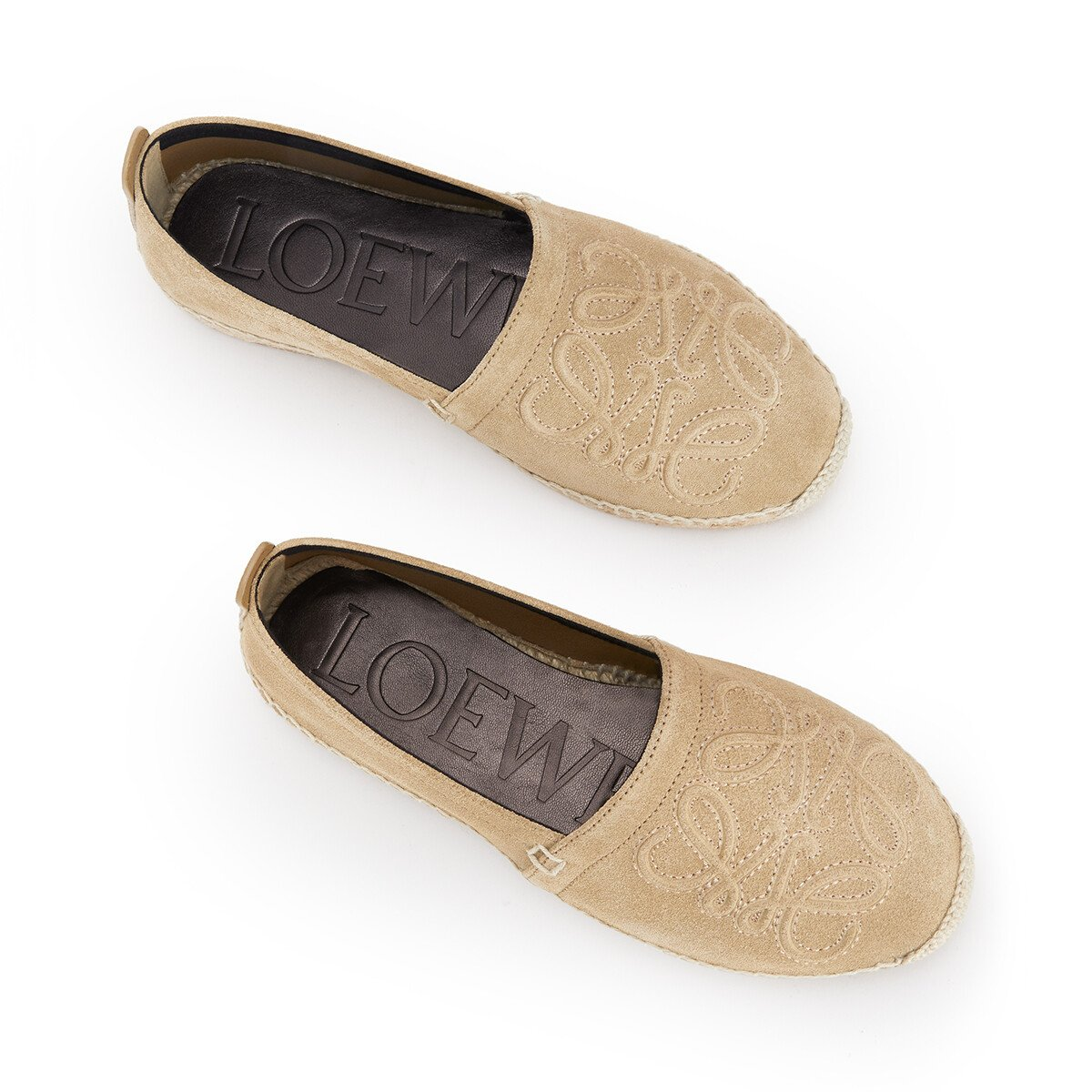 LOEWE Anagram Espadrille Gold front