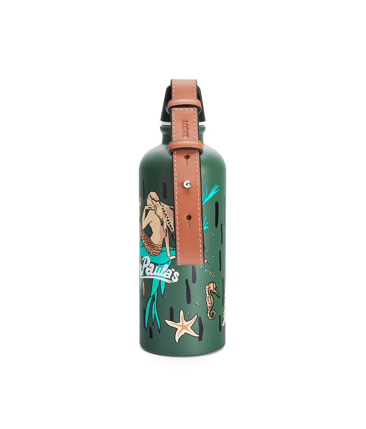 LOEWE ボトル (マーメイド アルミニウム&カーフスキン) グリーン front