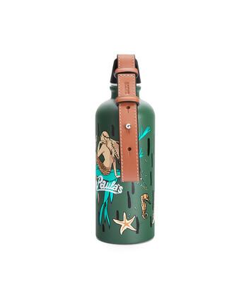 LOEWE Bottle In Mermaid Aluminium And Calfskin Green front