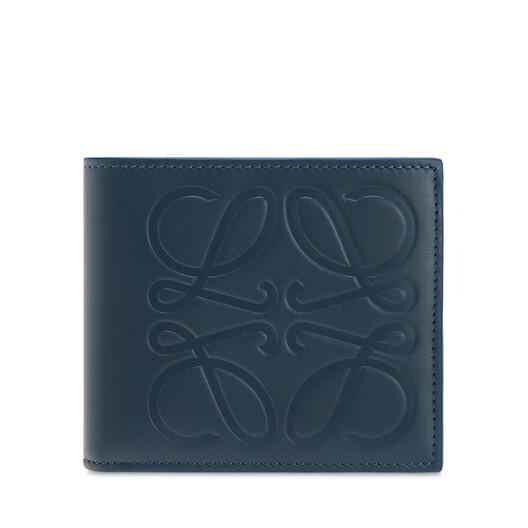 LOEWE Billetero C/Monedero Brand Azul Acero front