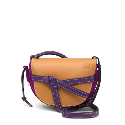LOEWE Gate Small Bag Grape/Amber front
