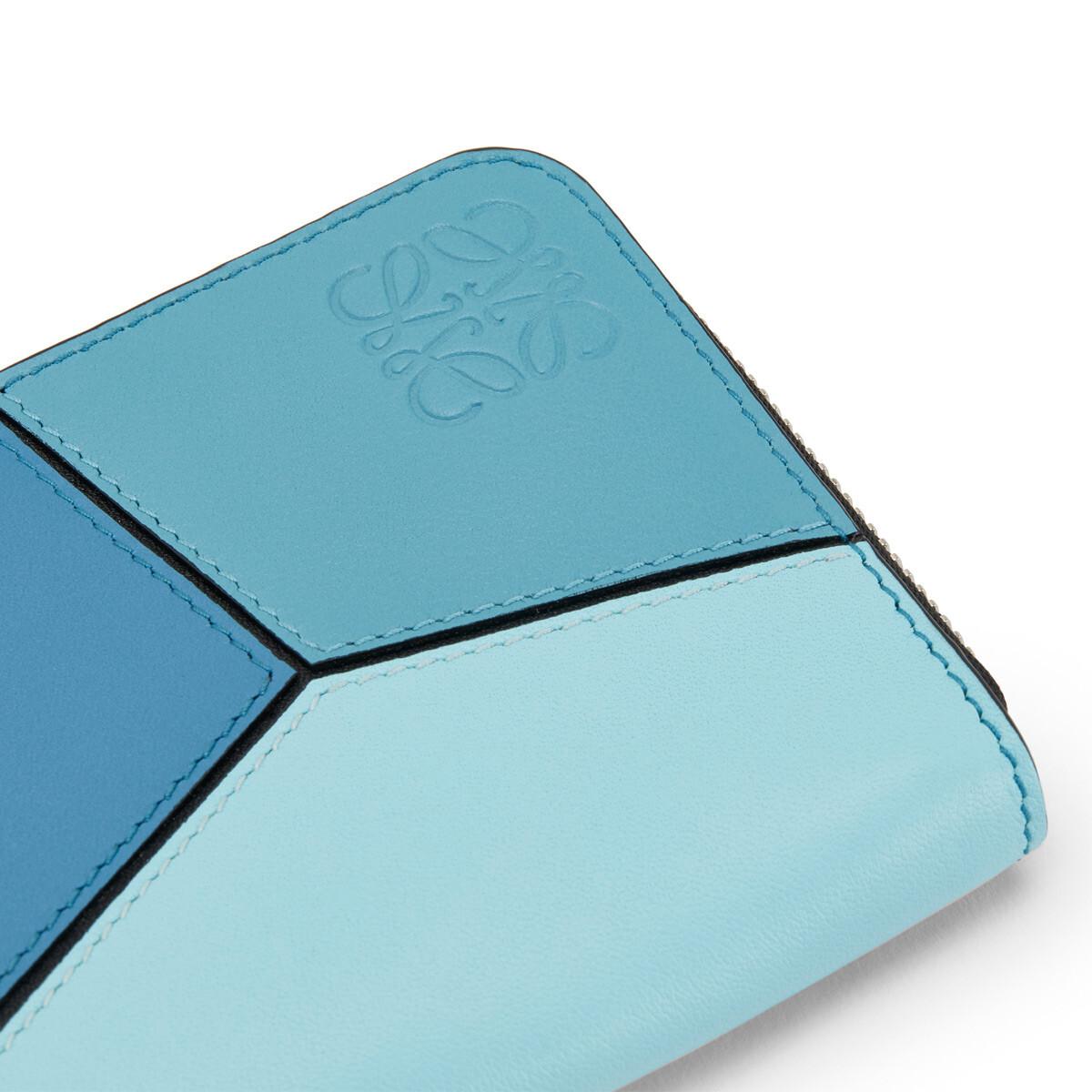 LOEWE Puzzle Zip 6 Card Holder Blue Multitone front