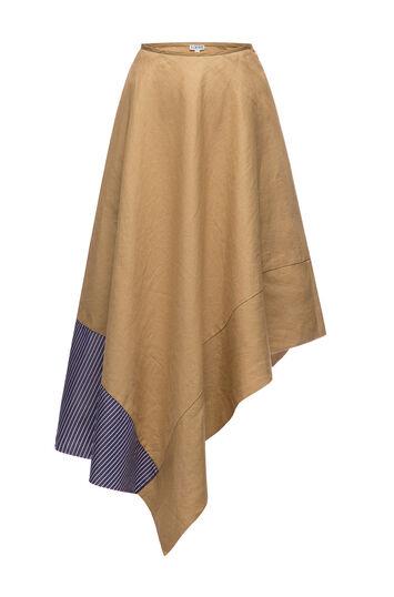 LOEWE Asymmetric Skirt Stripe Panel Beige/Blue/White front