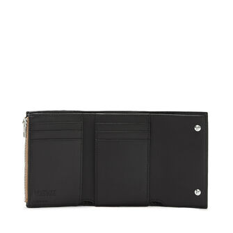 LOEWE Small Vertical Wallet Mocca/Black front
