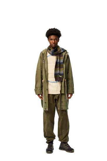 LOEWE 羊毛针织围巾 Khaki Green/Grey pdp_rd