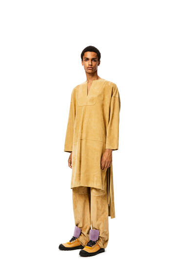 LOEWE Long tunic in suede Gold pdp_rd
