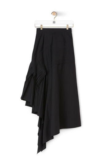 LOEWE Pleated Side Skirt 黑色 front