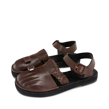 LOEWE Sandal Toes ダークブラウン front