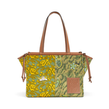 LOEWE Paula's Cushion Tote Prints Green/Yellow front