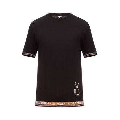 LOEWE Past Present Future T.Shirt Negro/Multicolor front