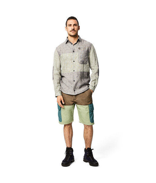 LOEWE Eln Patch Pocket Shirt Grey front
