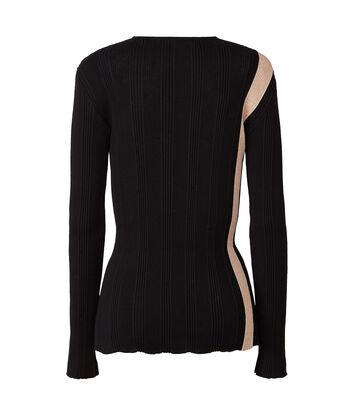 LOEWE ストライプリブセーター Black/Pink front
