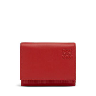 LOEWE Trifold Wallet Scarlet Red front