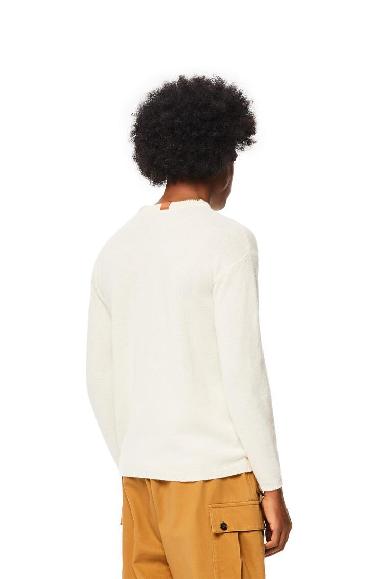 LOEWE Jersey de cuello redondo en alpaca y lana Crudo pdp_rd