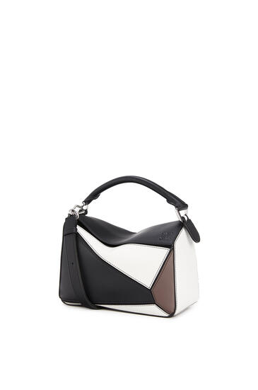 LOEWE Small Puzzle bag in classic calfskin Black/Taupe pdp_rd