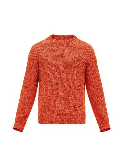 LOEWE Crewneck Sweater Melange Red front