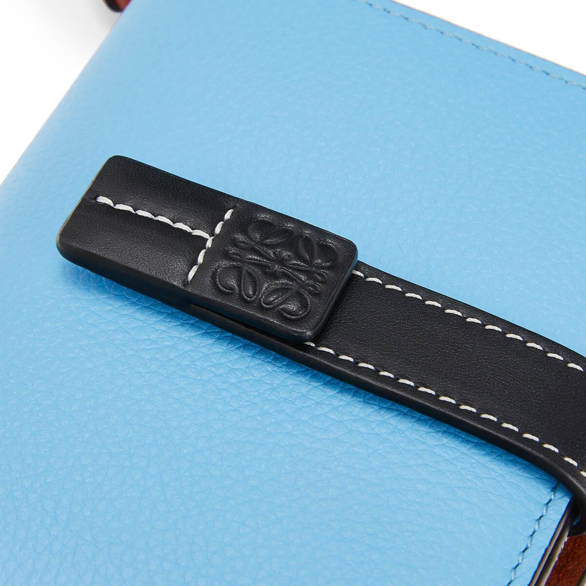 LOEWE Compact Zip Wallet Sky-Blue/Black front