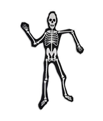 LOEWE 120X200 Knit Scarf Skeleton Blanco/Negro front