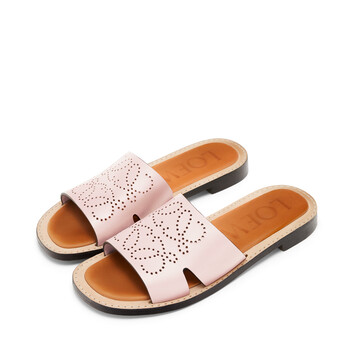 LOEWE Perforated Anagram Mule Light Pink front