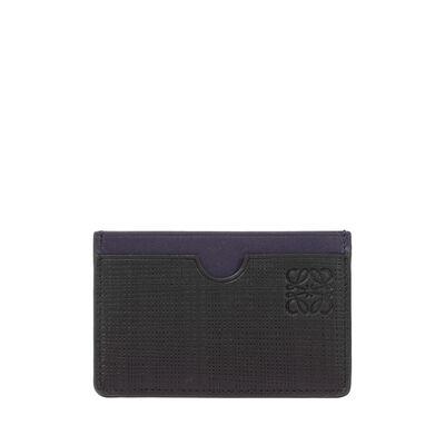 LOEWE プレーン カード ホルダー ブラック/ネイビーブルー front