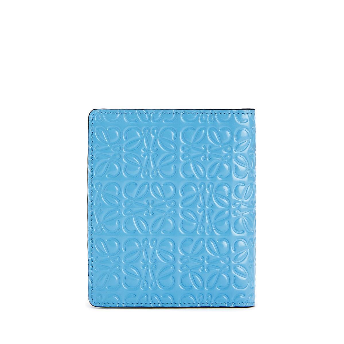 LOEWE Compact Zip Wallet Sky Blue front