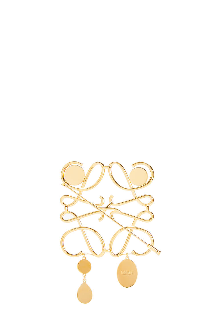 LOEWE XL Anagram brooch in metal Gold pdp_rd