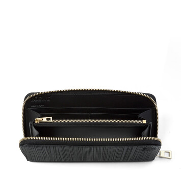 LOEWE Linen Zip Around Wallet Black front