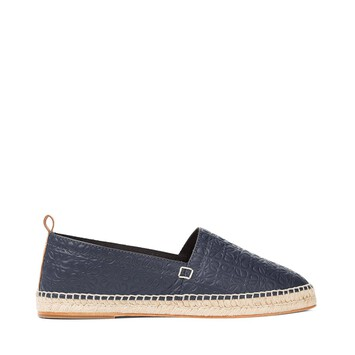 LOEWE Espadrille Repeat Navy Blue front