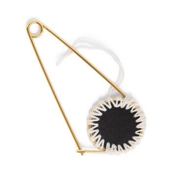LOEWE Pin Meccano Macrame Natural/Negro front