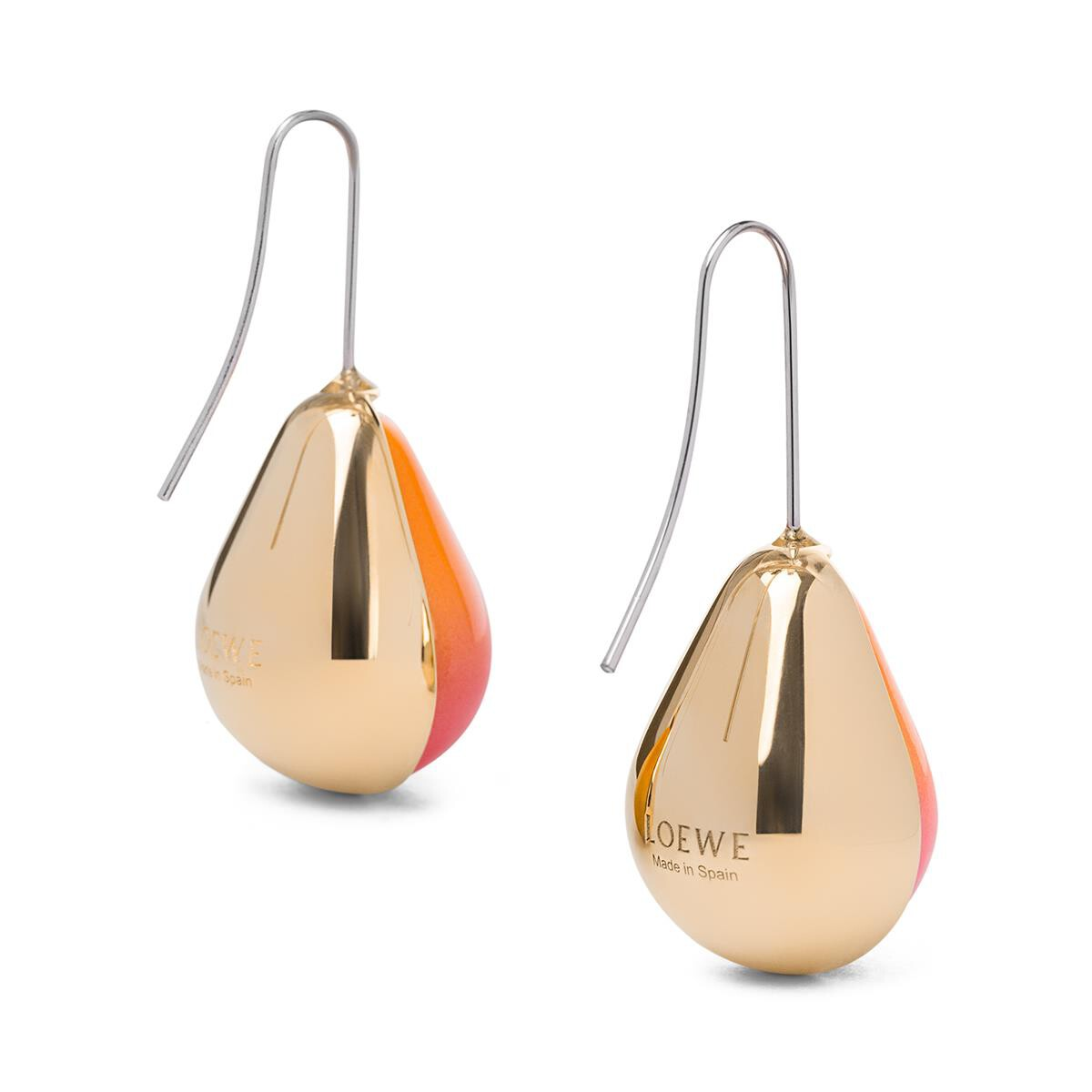 LOEWE Vermeer Earring Gold/Orange front