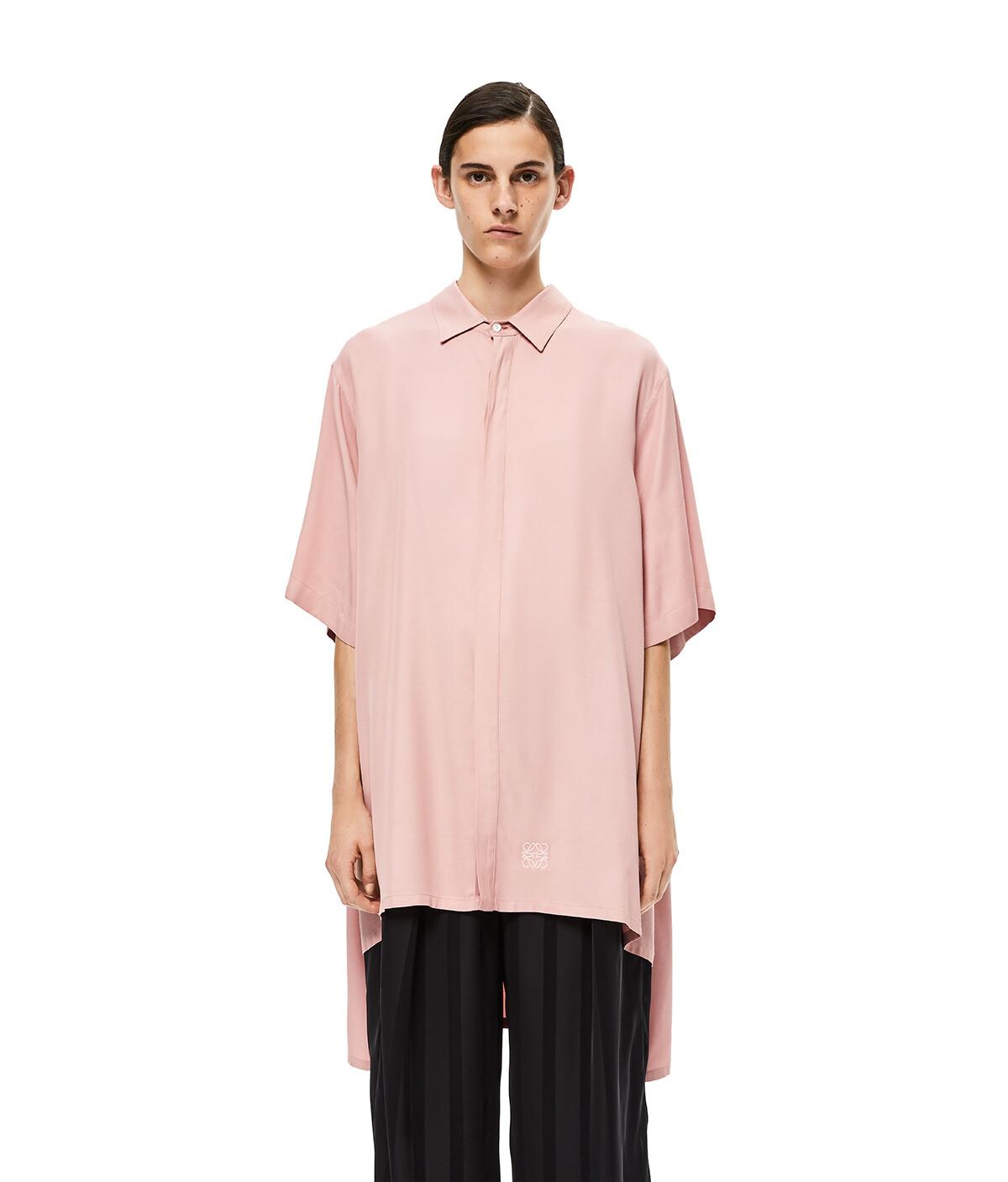 LOEWE Oversize Short Sleeve Shirt Light Pink front