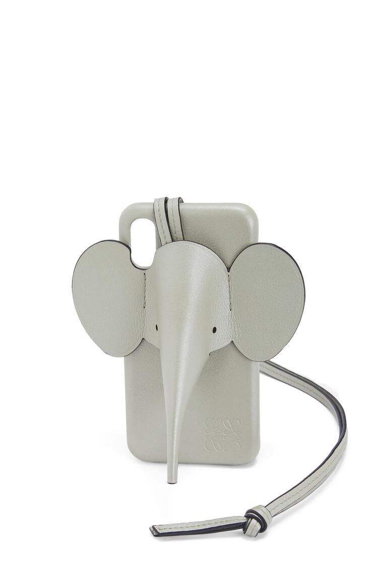 LOEWE Funda Elephant para iPhone XS Max en piel de ternera perlada Salvia pdp_rd