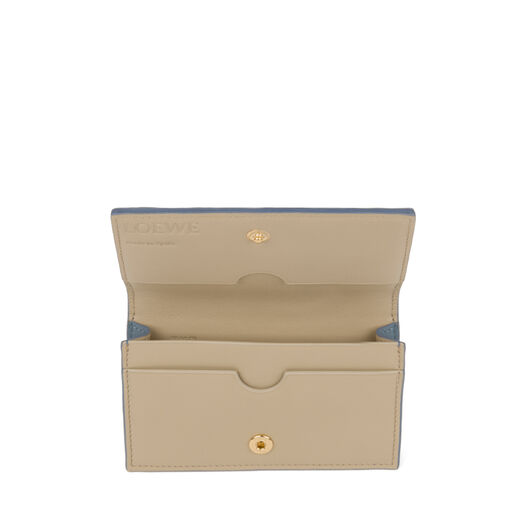 LOEWE Business Card Holder Stone Blue/Ivory all