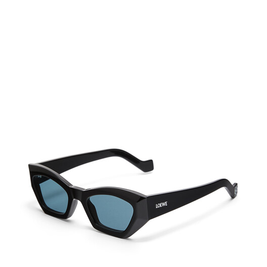LOEWE Geometric Cateye Sunglasses Black/Blue front