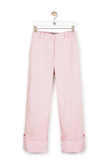 LOEWE Turn Up Trousers Pale Pink front