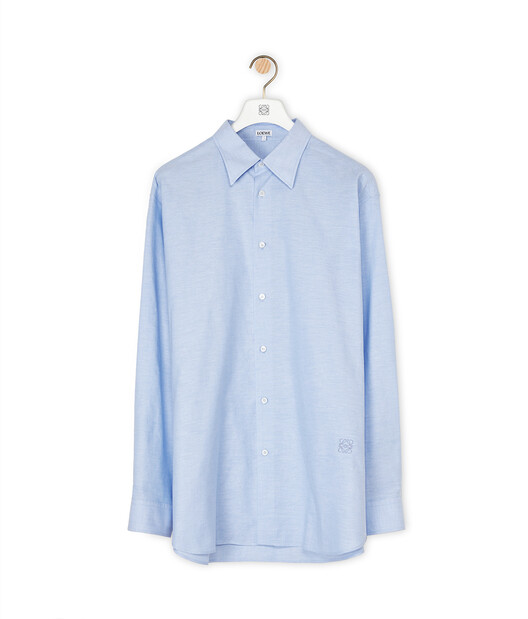 LOEWE Oxford Shirt Blue front