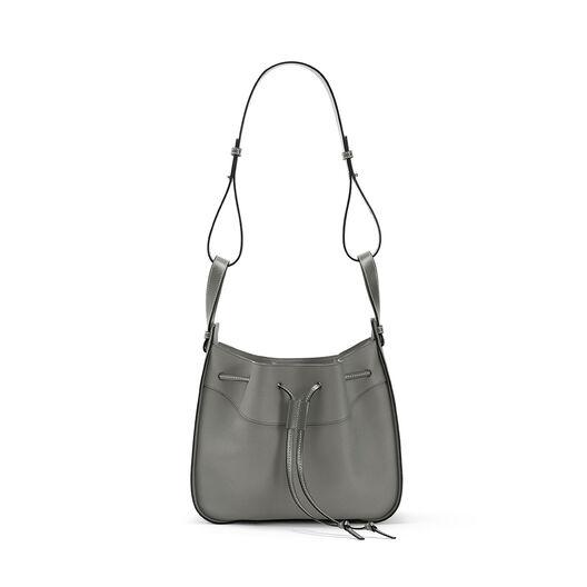 LOEWE Hammock Drawstring Medium Bag Gunmetal front