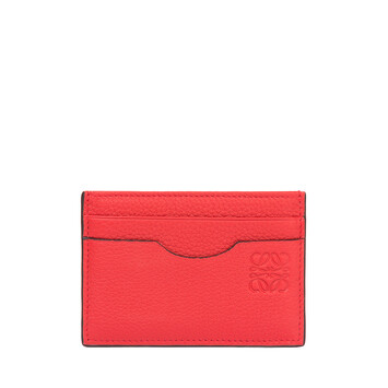 LOEWE Plain Card Holder Scarlet Red/Brick Red front