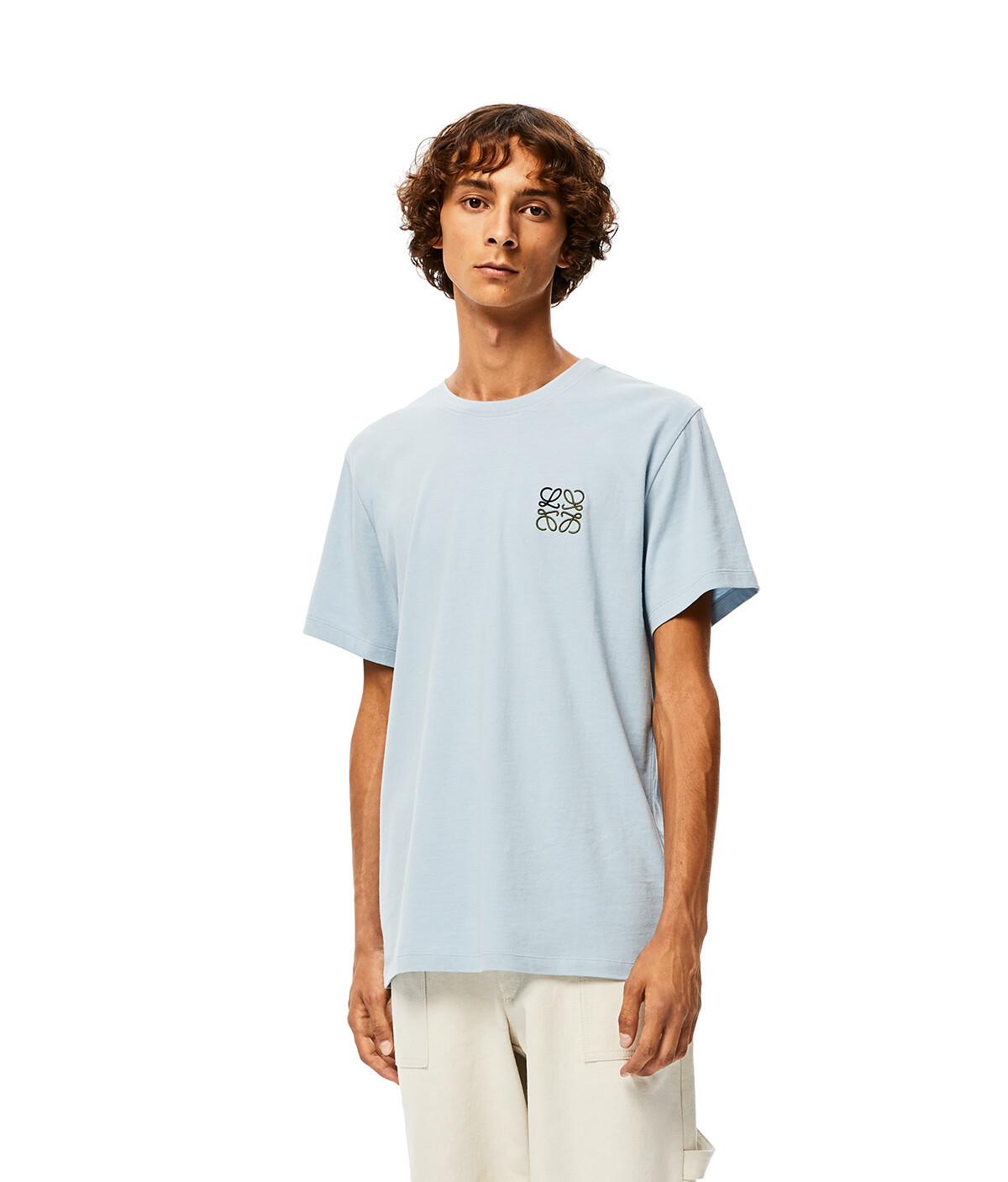LOEWE Anagram T-Shirt Azul Bebe front
