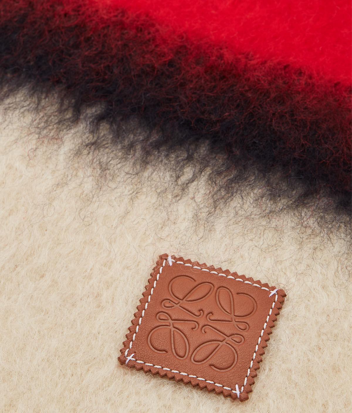 LOEWE 23X185 Scarf Stripes 红色/黑色 all
