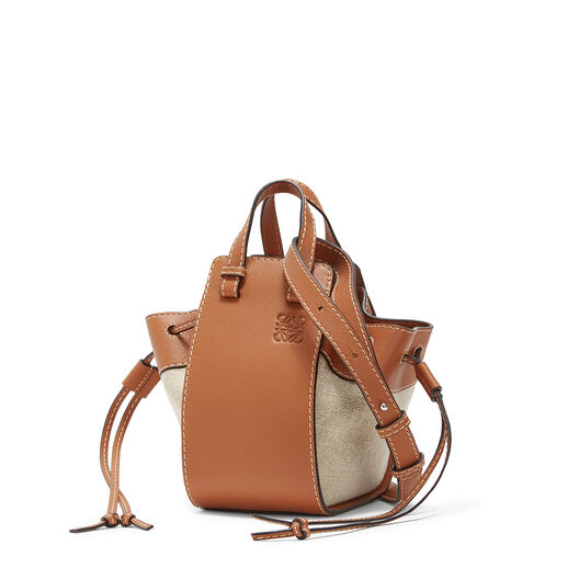LOEWE ミニハンモックDWバッグ Tan/Natural front