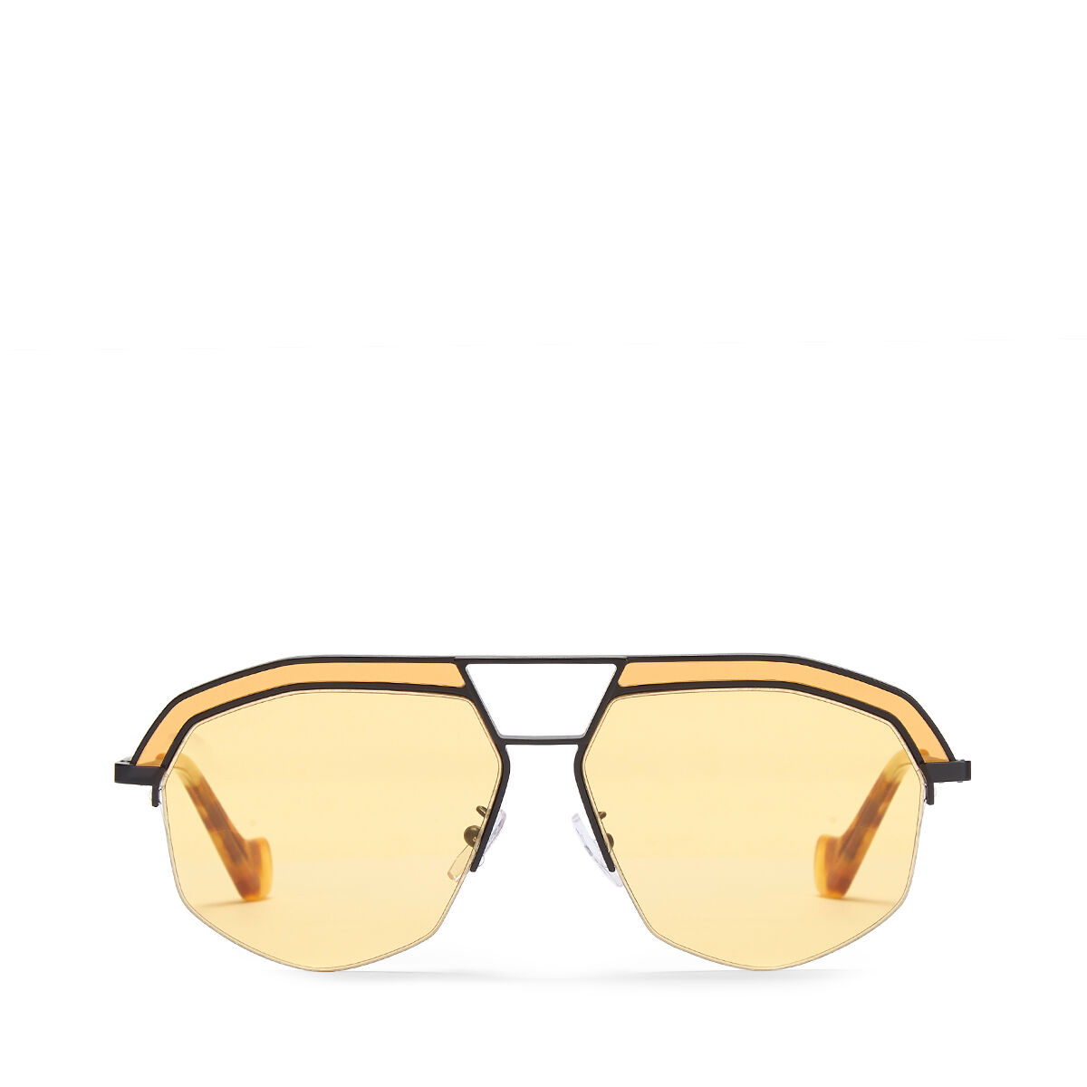 LOEWE Geometrical Sunglasses Matte Black/Yellow all